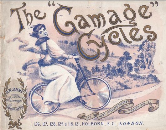 1899 gamages midget safety ad
