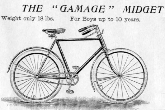 1899 gamages midget safety ad 1