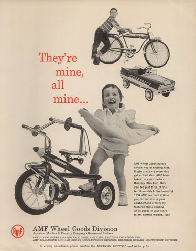 amf rocket tricycle ad 57