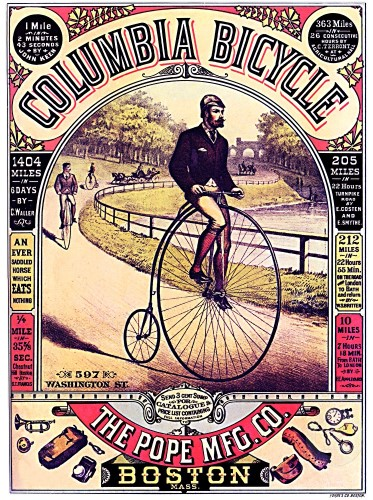 columbia bicycle poster1900s