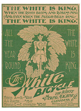 white bicycle ad 1896