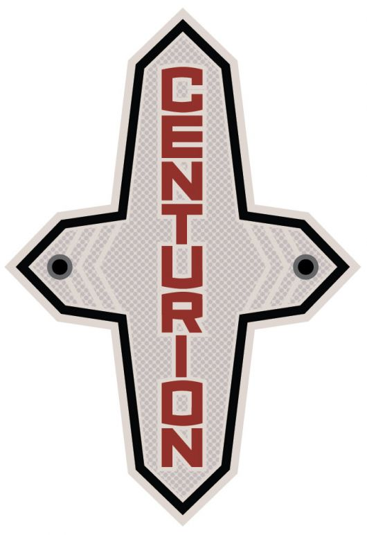 centurion metal head tube badge