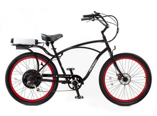 pedego classic comfort cruiser black red 10